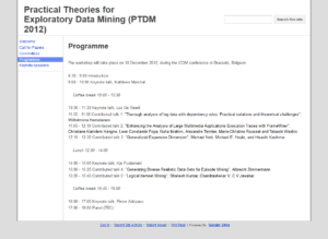 Practical Theories for Exploratory Data Mining Workshop
