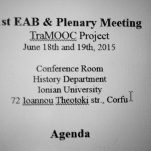 2nd traMOOC project meeting in Corfu
