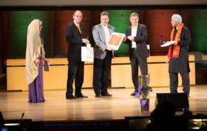 Marko Grobelnik, K4A trustee taking the WSIS+10 Global champions awards for VideoLectures.Net @ , UNESCO Paris