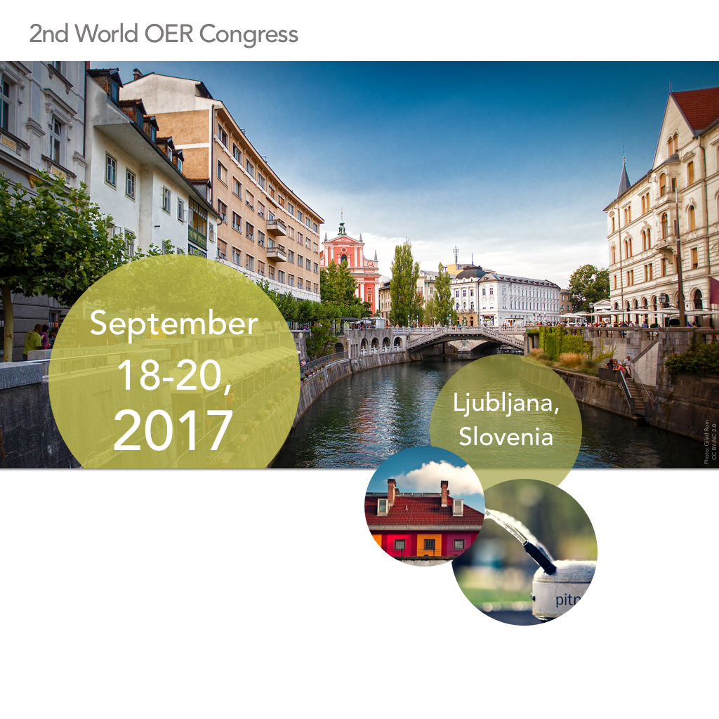 2nd World OER Congress in Ljubljana