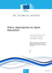 Policy Approaches to Open Education – Case Studies from 28 EU Member States