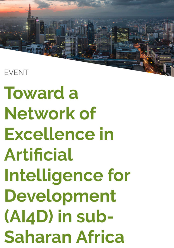 Toward a Network of Excellence in Artificial Intelligence for Development (AI4D) in sub-Saharan Africa