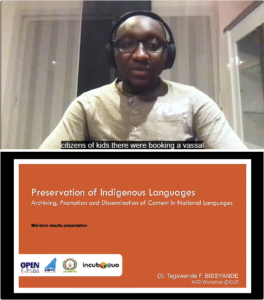 Tegawende Bissyande - Preservation of Indigenous Languages