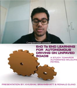 Khushal Brahmbhatt - End-to-End Learning for Autonomous Driving on Unpaved Roads - A Study Towards Automated Wildlife Patrol