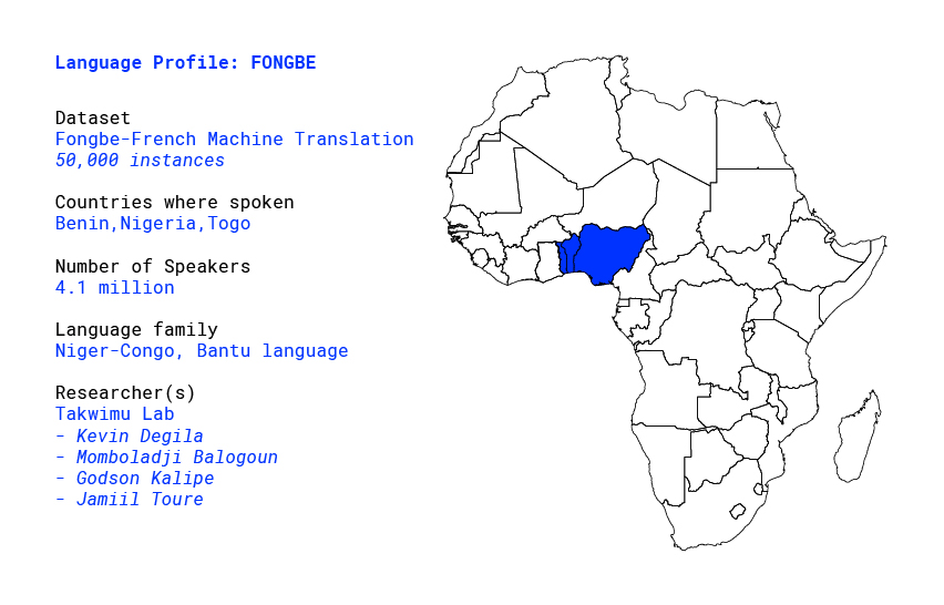 Language profile for Fongbe