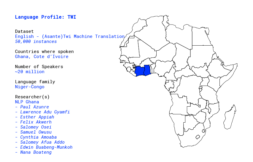 Building a database for Twi language in Africa